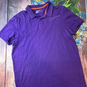 Nike Golf Sport Dri-Fit Polo XL Purple White